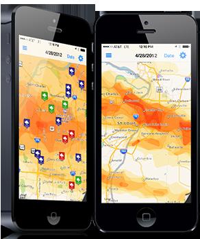 interactive hail maps view real time radar hail maps